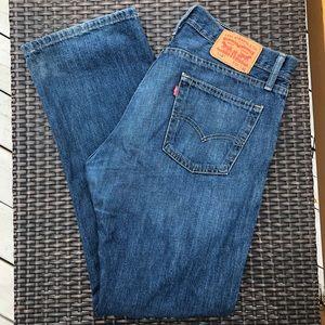 Blue Levi's Straight Jeans 514